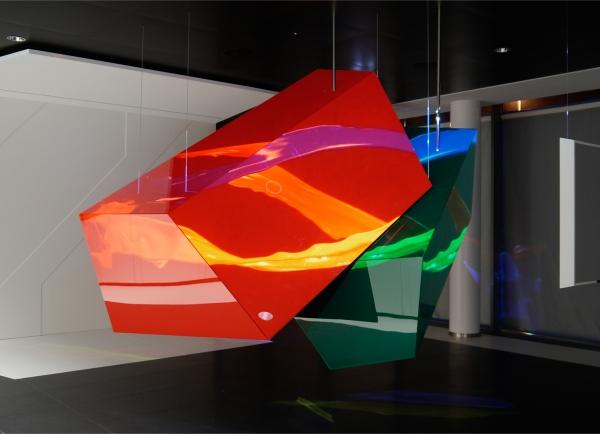 Brillux Logo-Skulptur