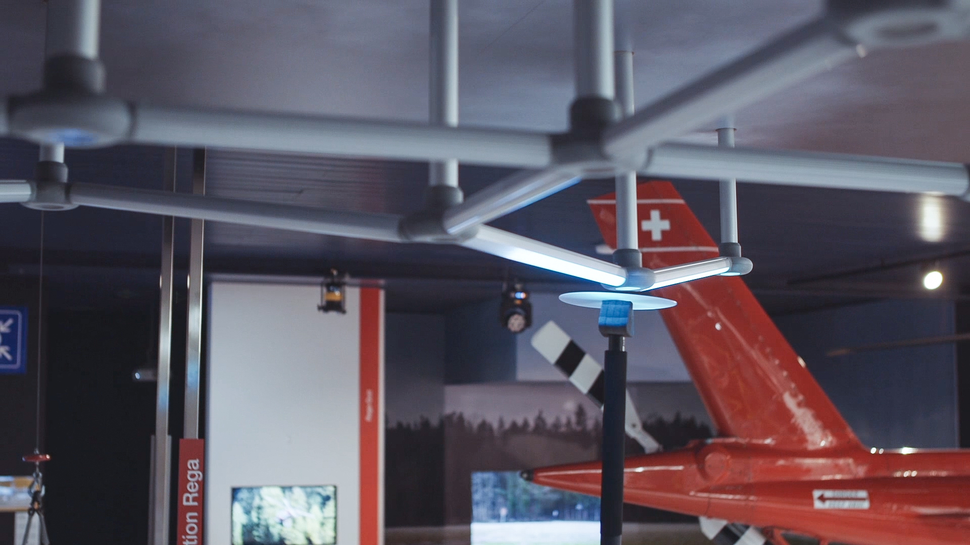 Interaktives Hubschrauber-Exponat